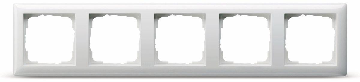 Großartig Abdeckrahmen 5-Fach GIRA Standard 55, 021503, reinweiß, glänzend  QN46
