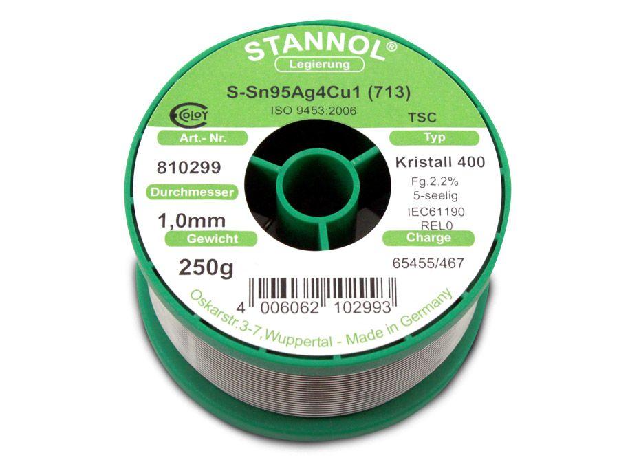 Lötzinn STANNOL Kristall 400 TSC, 1 mm, 250 g online kaufen | Pollin.de