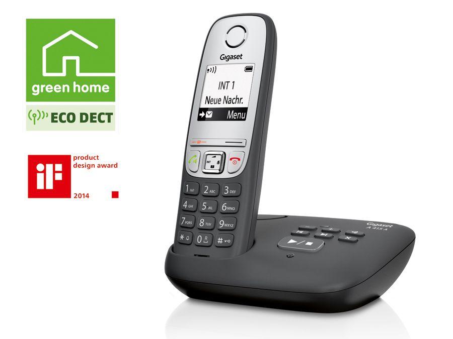 schnurloses dect telefon gigaset a415 a mit ab b ware. Black Bedroom Furniture Sets. Home Design Ideas