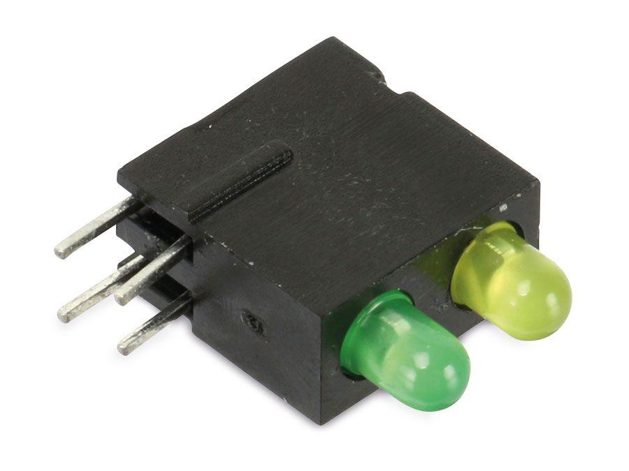 LED-Zeile, grün/gelb, Ý 3mm, 2-fach