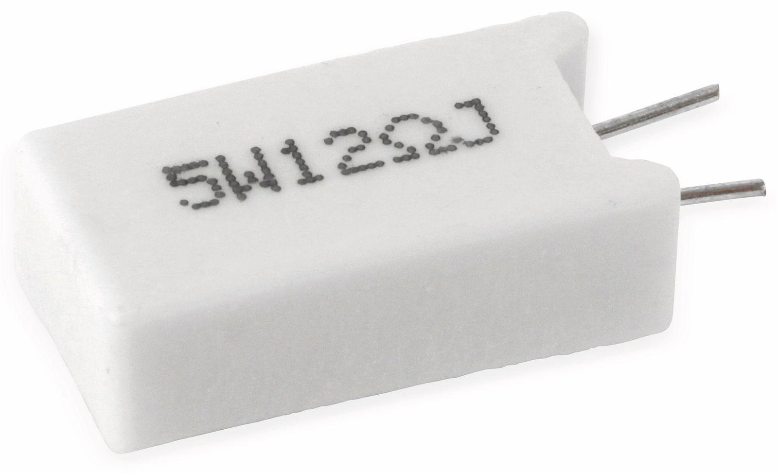 Widerstand ASJ SQM5-120J-B, 12R, 5%, 5W, RM5