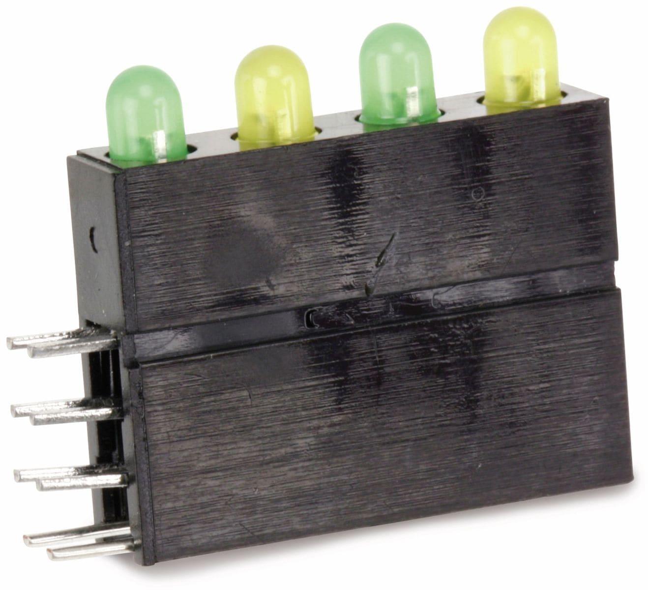 LED-Zeile, grün-gelb, Ý 3mm, 4-fach