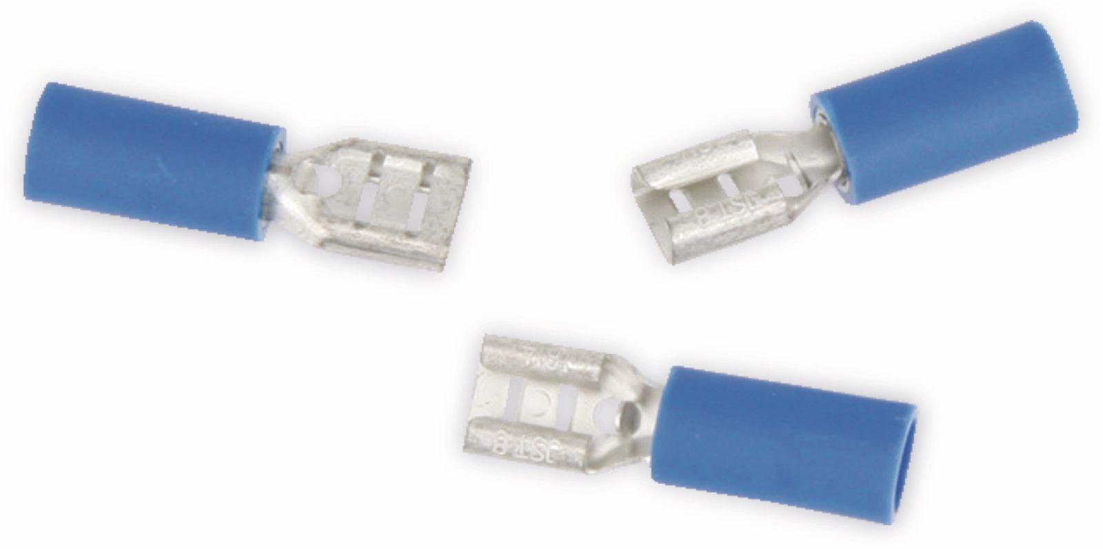 0,10 EUR//Stück 25 vollisolierte Flachsteckhülsen 2,8mm blau 1,5 bis 2,5 qmm