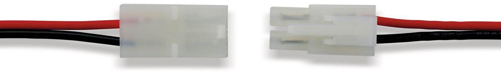 steckverbinder set 2 polig tamiya stecker kupplung rot schwarz 180mm. Black Bedroom Furniture Sets. Home Design Ideas