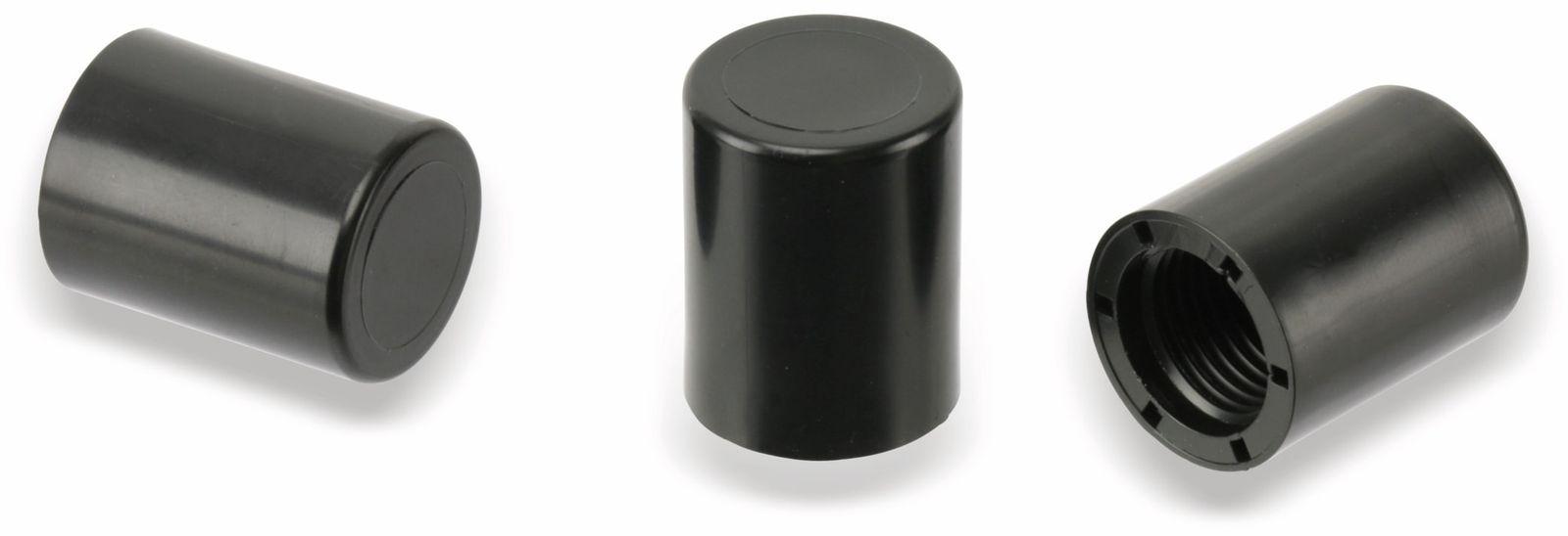 Hutmuttern M10x1, Kunststoff,