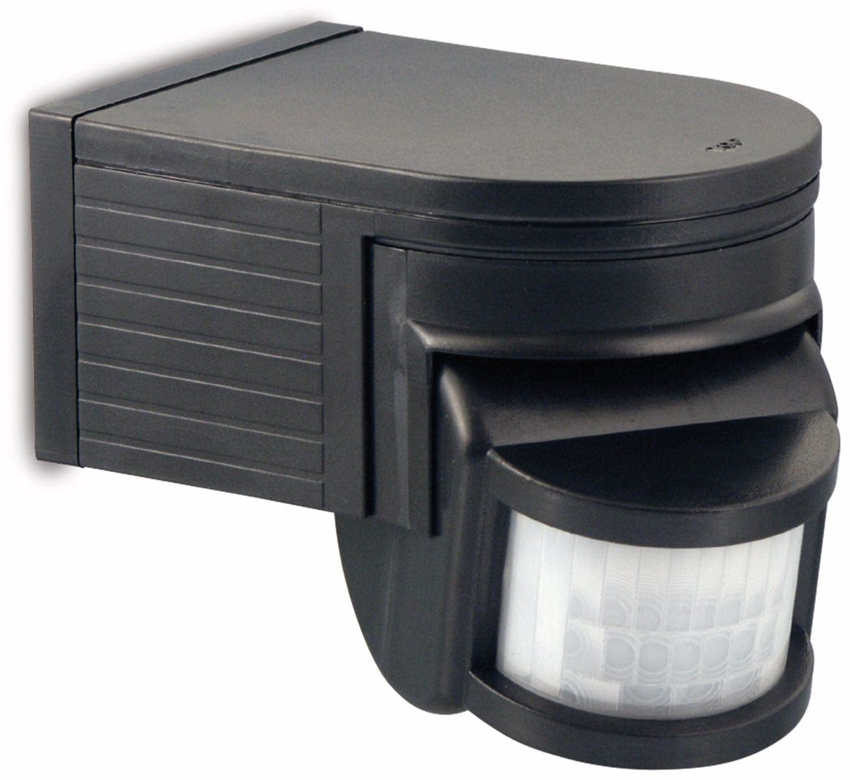infrarot bewegungsmelder 180 schwarz online kaufen. Black Bedroom Furniture Sets. Home Design Ideas