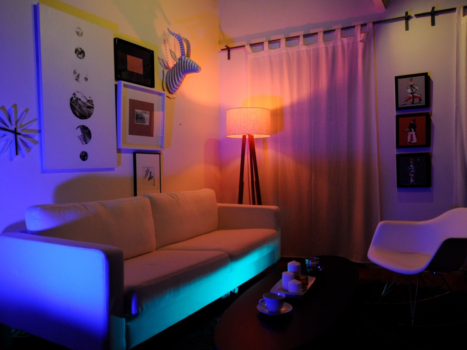 rgb led lampe mit fernbedienung jedi lighting e14 eek b 3 2 w led lampe ebay. Black Bedroom Furniture Sets. Home Design Ideas