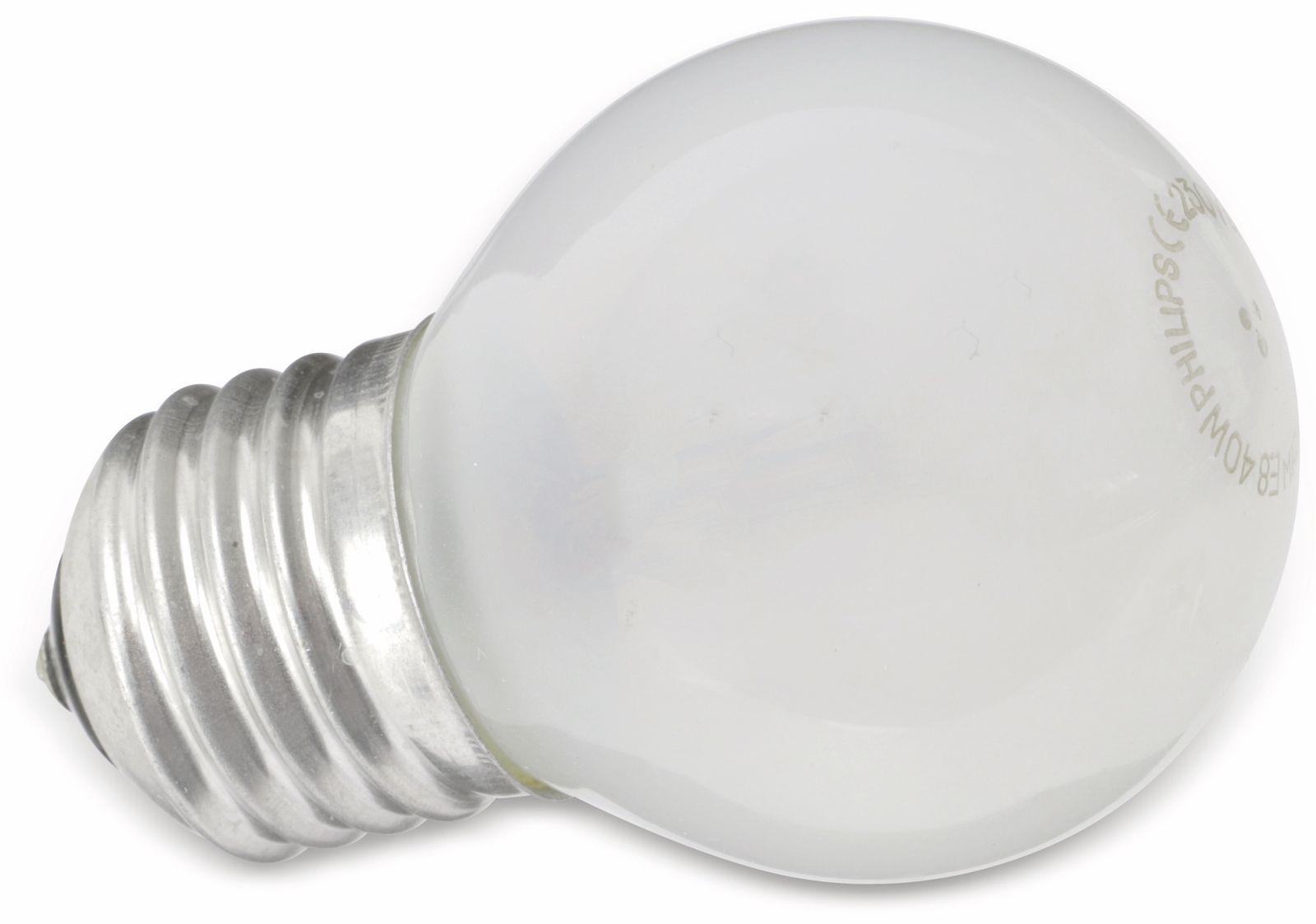 Philips Glühlampe PHILIPS, Tropfen, E27 230V, 40W, matt