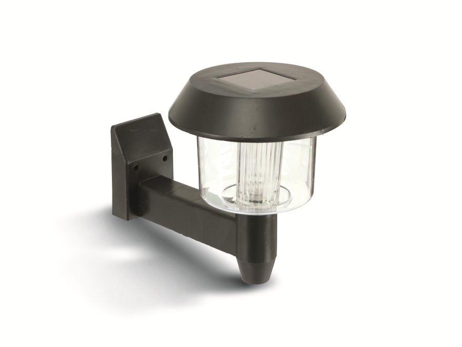 solar wandleuchte kunststoff led ein ausschalter 150mm schwarz. Black Bedroom Furniture Sets. Home Design Ideas