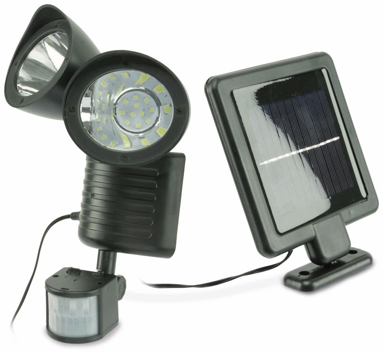 solar led strahler mit bewegungsmelder 1 w schwarz. Black Bedroom Furniture Sets. Home Design Ideas