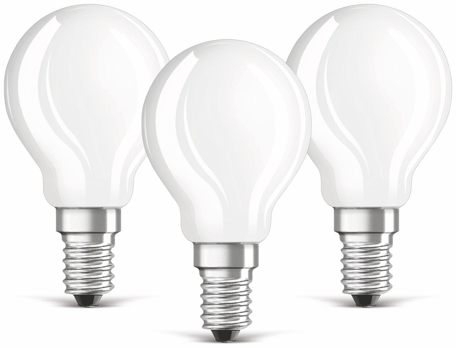 Led lampe osram base p e14 eek: a 4w 470 lm 2700 k 3 stück