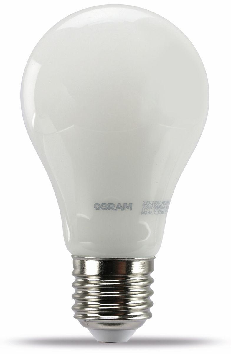 led lampe osram led base a60 e27 eek a 7 2w 806 lm. Black Bedroom Furniture Sets. Home Design Ideas