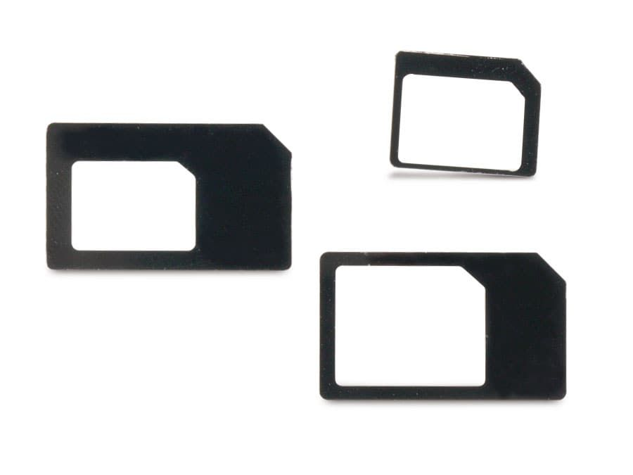 SIM-Karten Adapterset, 3 Adapter Nano/Micro, Nano/SIM, Micro/SIM