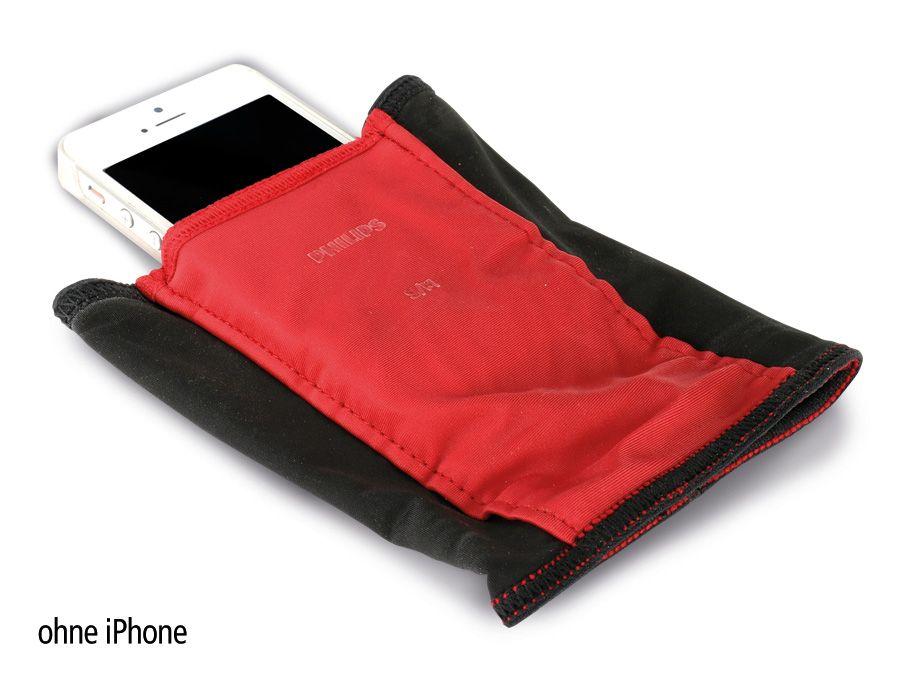 Philips Handyhalter PHILIPS DLV1004/17, S/M schwarz/rot