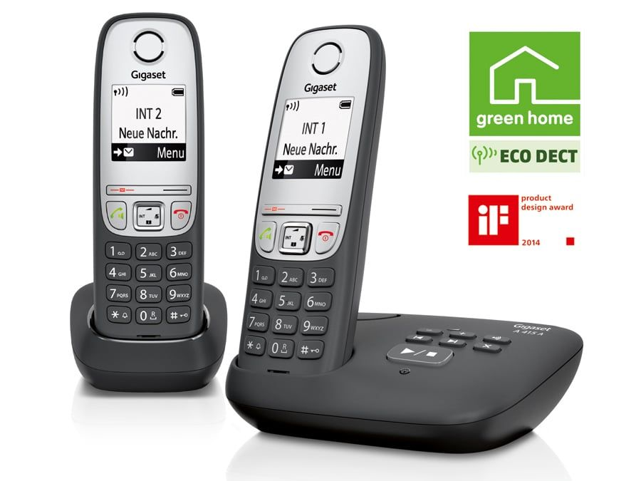 schnurloses dect telefon gigaset a415 a duo mit ab 2 mobilteile online kaufen. Black Bedroom Furniture Sets. Home Design Ideas