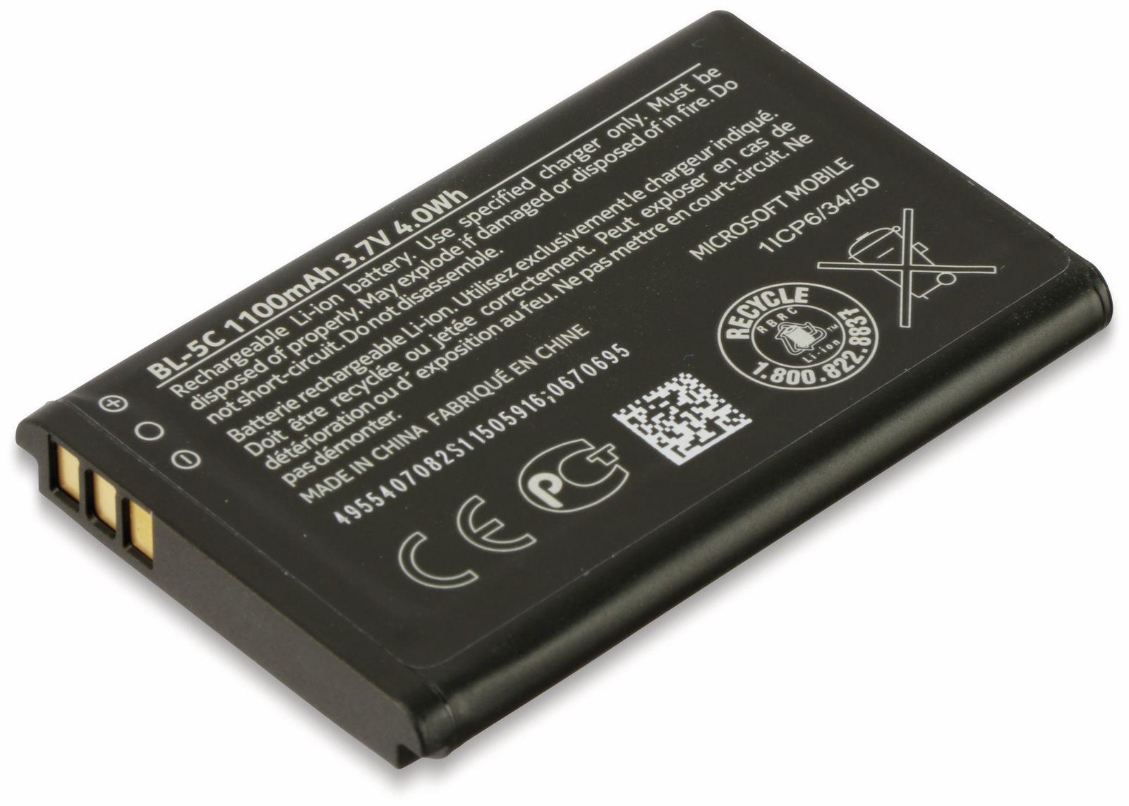 Handy-Akku NOKIA/MICROSOFT BL-5C LiIon,