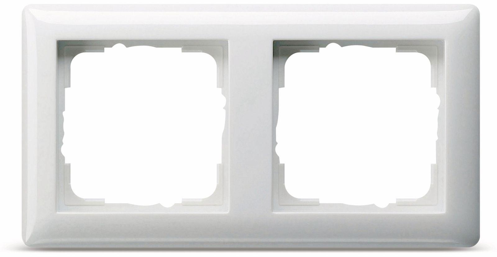abdeckrahmen 2 fach gira standard 55 021203 reinwei. Black Bedroom Furniture Sets. Home Design Ideas