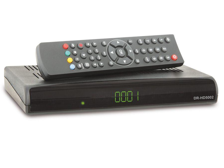 DVB-S HDTV Twin-Receiver DR-HD5002 USB, HDMI, Scart, LED-...