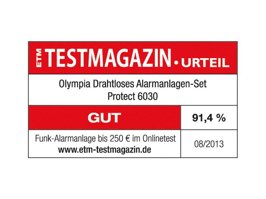 Premium Starter-Set Funk-Alarmanlage Olympia Protect 6030 mit 2 Bewegungsmeldern