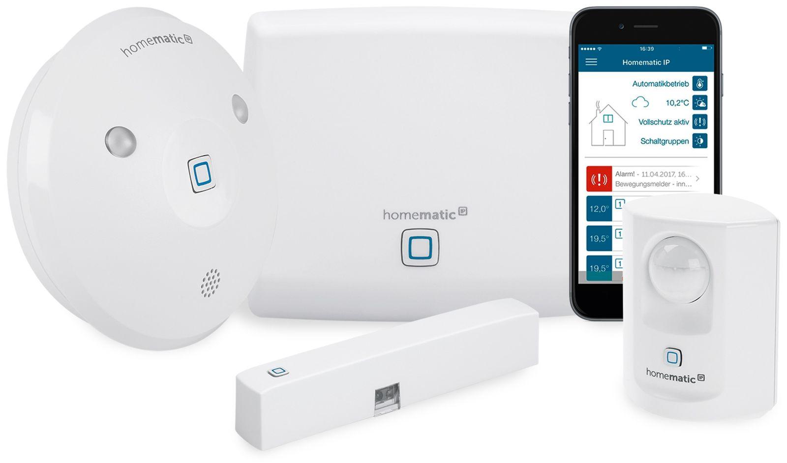 homematic ip 153348a0 starter set alarm. Black Bedroom Furniture Sets. Home Design Ideas