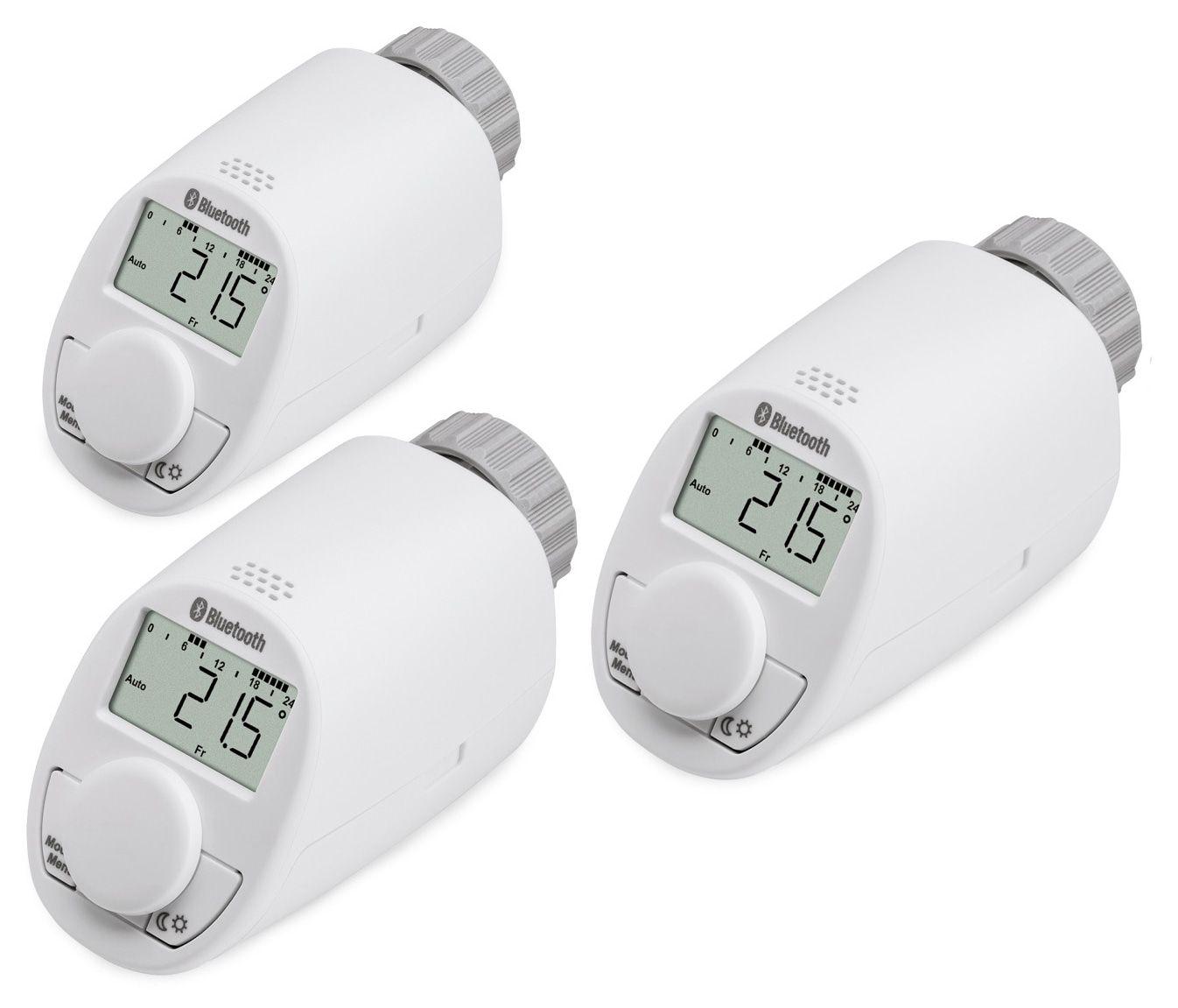 heizk rper thermostatkopf eqiva mit bluetooth 3 st ck online kaufen. Black Bedroom Furniture Sets. Home Design Ideas