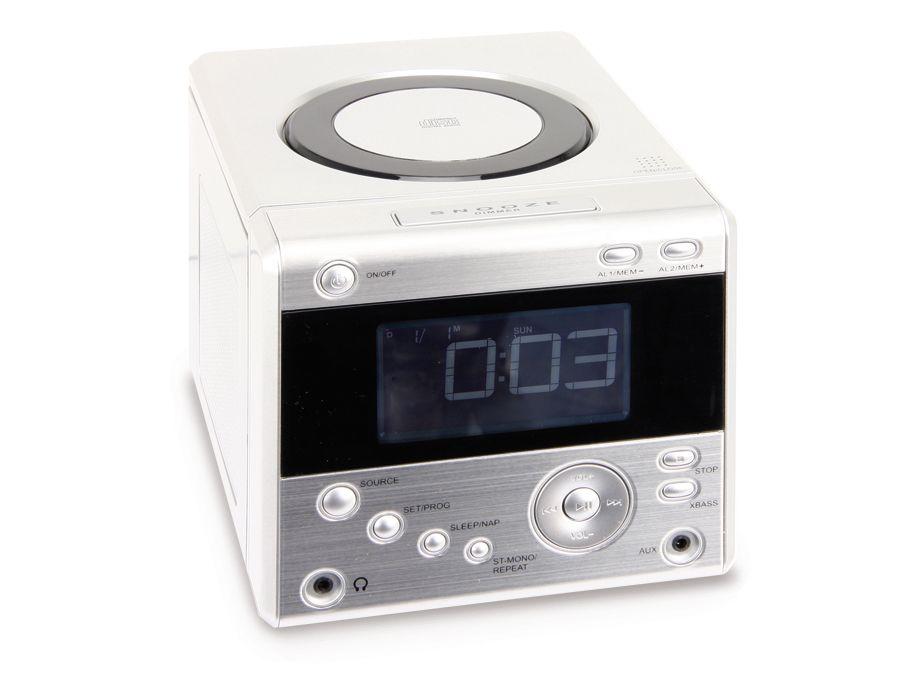 uhrenradio cdr 234 mit cd player silber b ware online. Black Bedroom Furniture Sets. Home Design Ideas