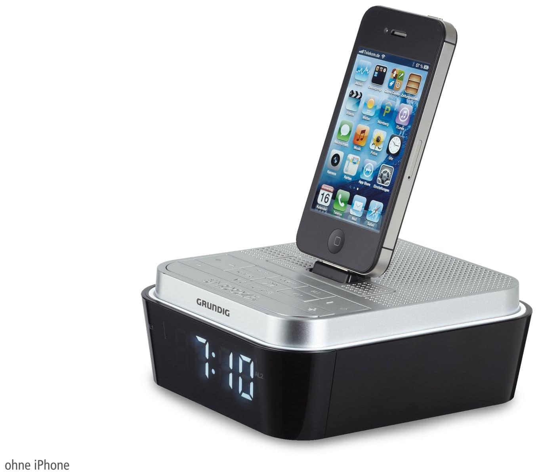 radiowecker grundig sonoclock 930 ip silber schwarz. Black Bedroom Furniture Sets. Home Design Ideas