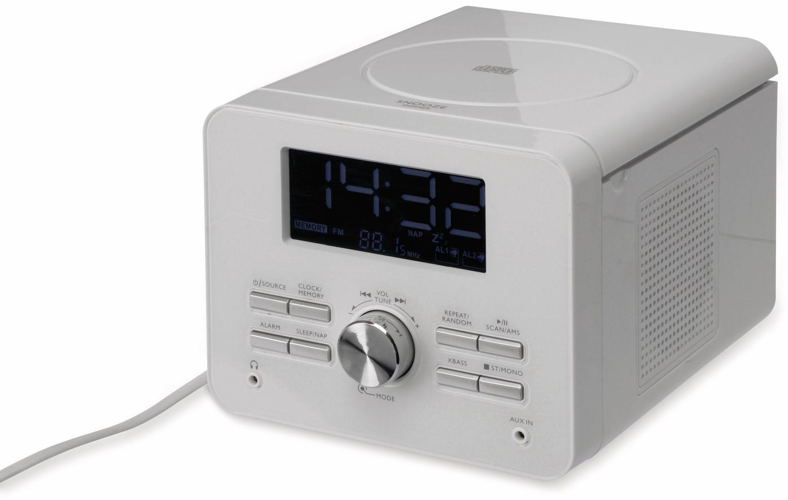 uhrenradio cdr 264 mit cd player wei b ware online. Black Bedroom Furniture Sets. Home Design Ideas