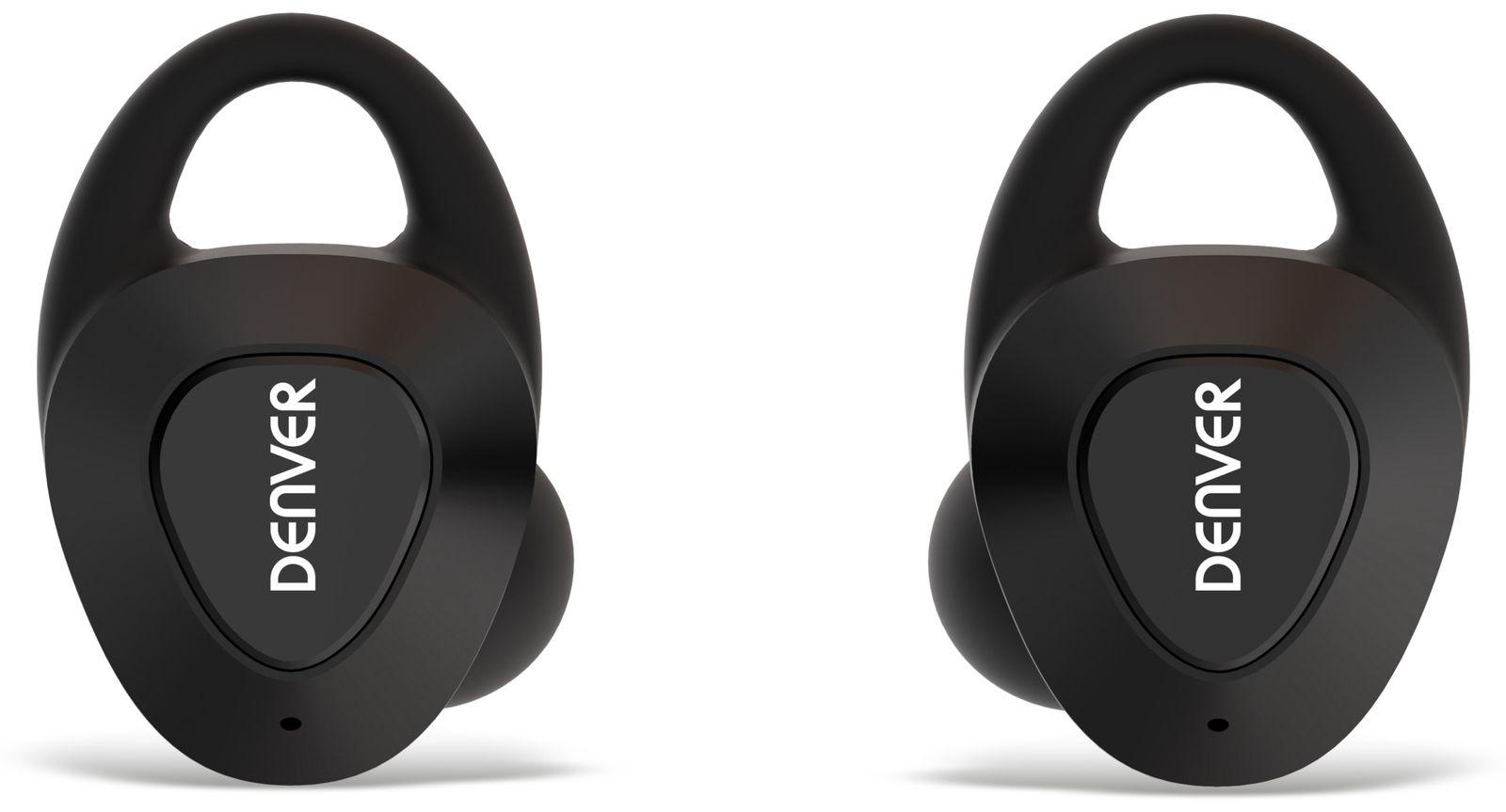 true wireless in ear headset denver twe 51 schwarz online. Black Bedroom Furniture Sets. Home Design Ideas