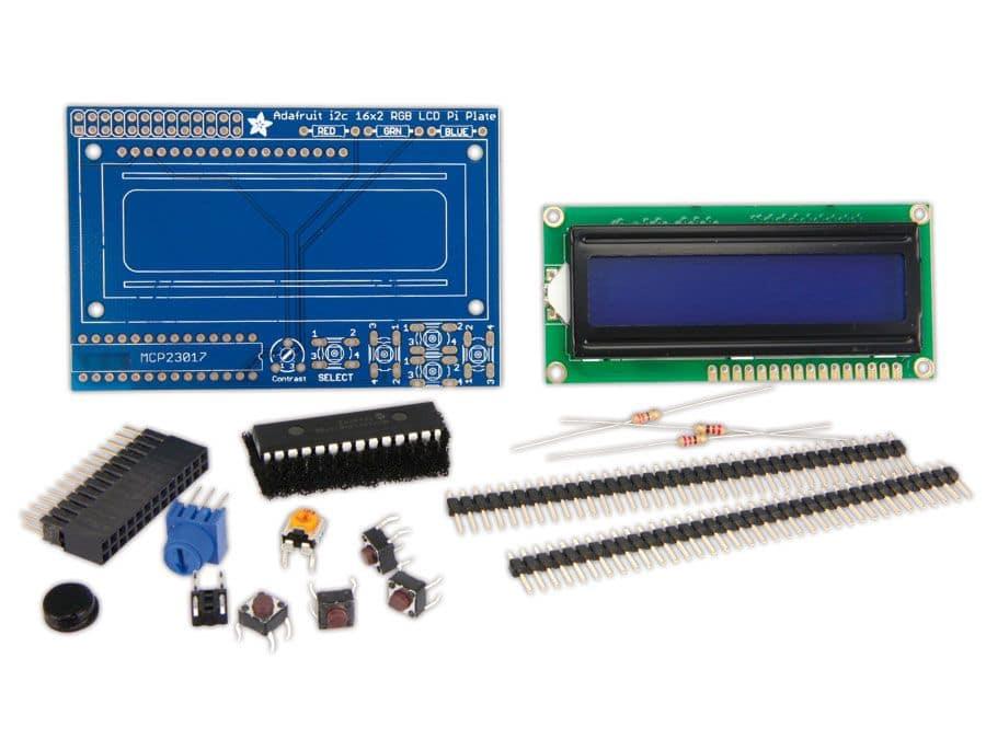 Raspberry Pi LCD, 16x2, blau/weiß