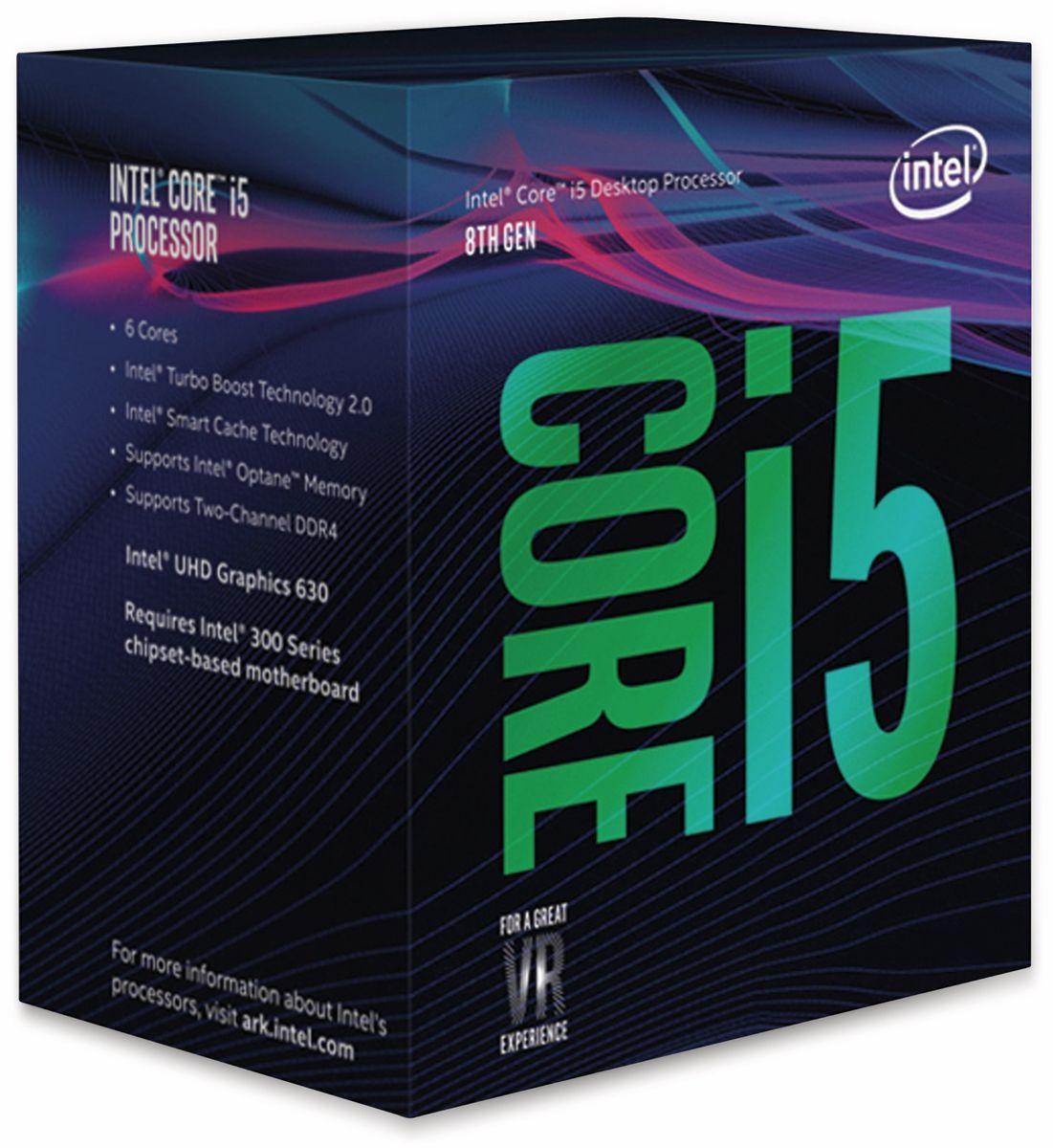 CPU INTEL Core i5-8400, 6x 2,8 GHz