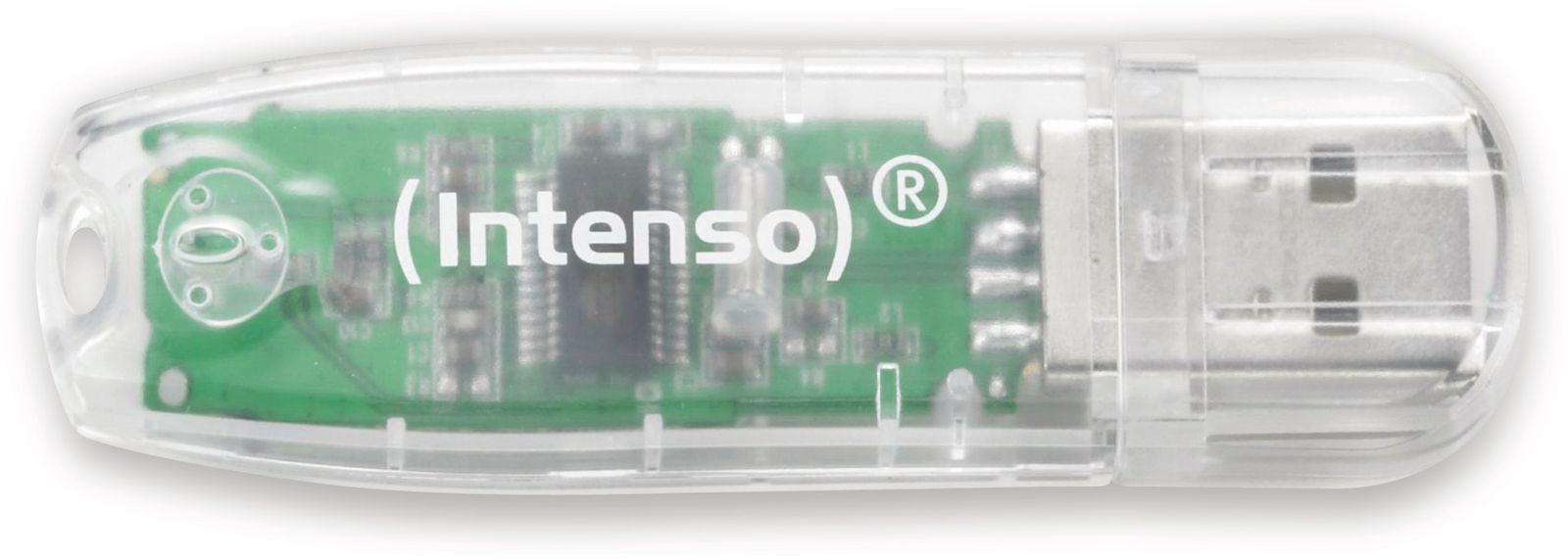 Intenso USB2.0 Stick, 32GB, transparent INTENSO RainbowLine