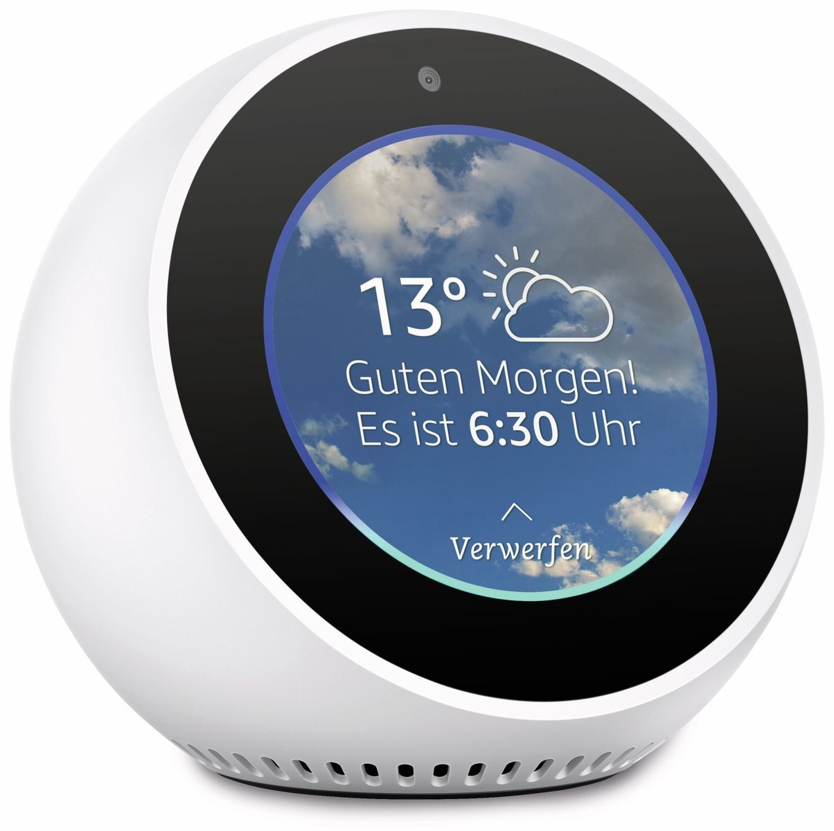 sprachassistent amazon echo spot wei online kaufen. Black Bedroom Furniture Sets. Home Design Ideas