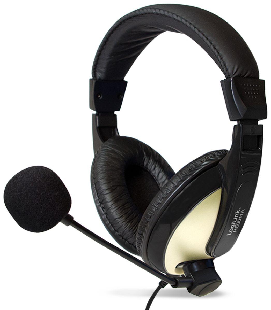 headset logilink hs0011a 3 5 mm klinkenstecker. Black Bedroom Furniture Sets. Home Design Ideas