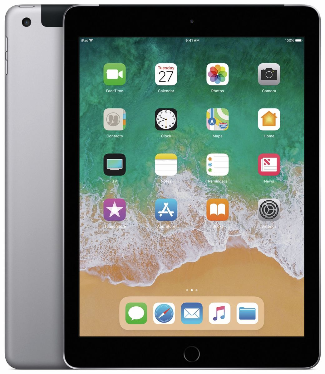 apple ipad 2018 32 gb spacegrau wifi cellular. Black Bedroom Furniture Sets. Home Design Ideas