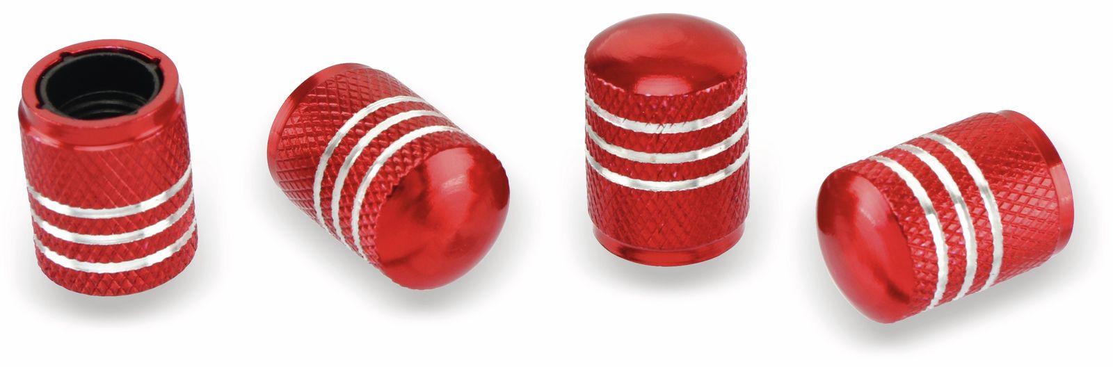 Ventilverschlüsse DUNLOP, 4 Stück, rot