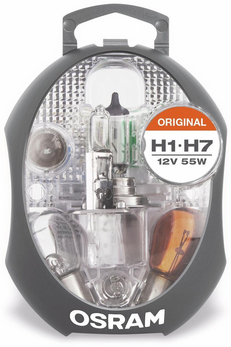 kfz ersatzlampen set osram h1 h7. Black Bedroom Furniture Sets. Home Design Ideas