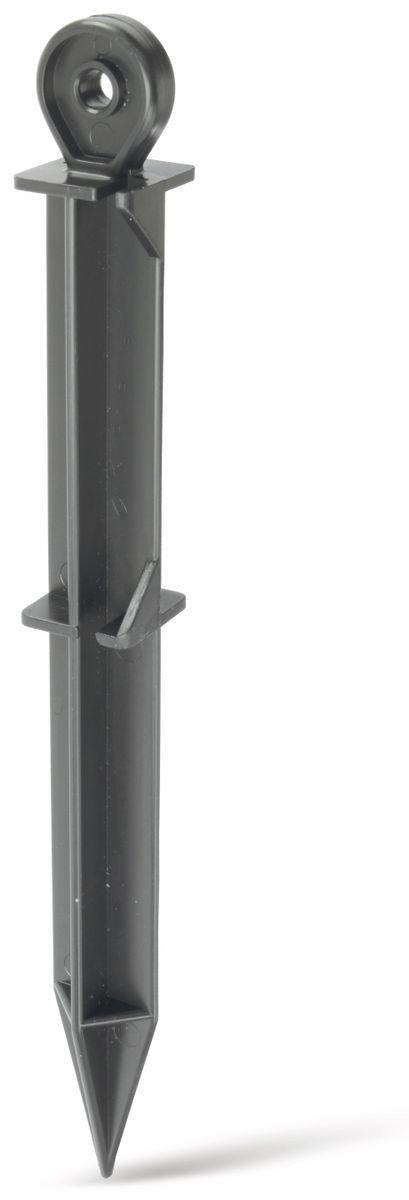Zelthaken, schwarz, 250mm