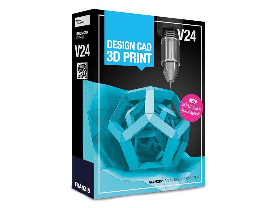Software DesignCAD 3D Print V24 Franzis