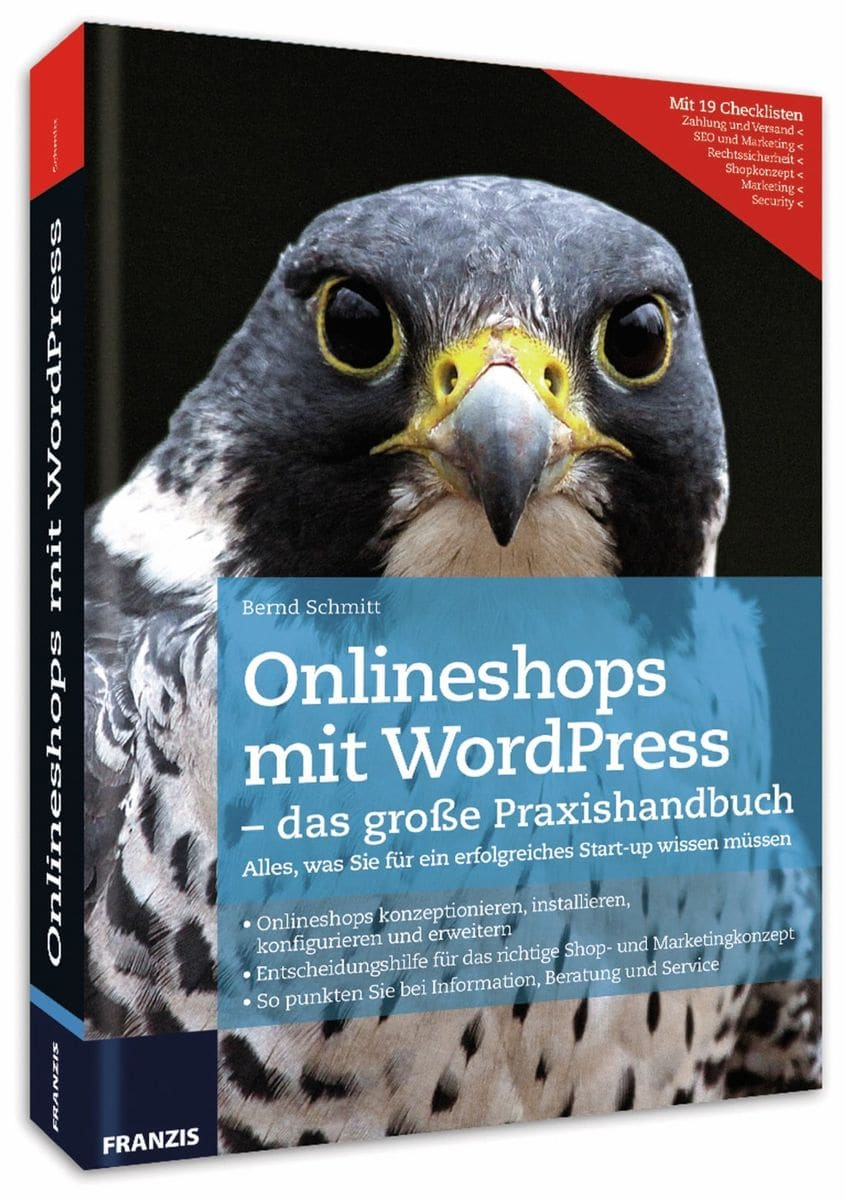 Buch Onlineshops mit WordPress Franzis