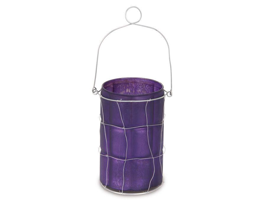 teelicht glas lila online kaufen. Black Bedroom Furniture Sets. Home Design Ideas