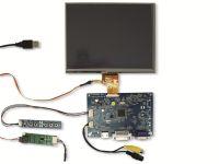 """Vorschau: 20,3 cm (8"""") Display-Set mit Touchscreen LS-8T, HDMI/DVI/VGA/CVBS"""