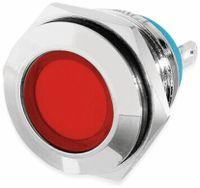 Vorschau: LED-Kontrollleuchte, Signalleuchte 12 V, Rot, Ø16 mm, Messing, Tiefe 22 mm
