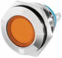 Vorschau: LED-Kontrollleuchte, 12 V, Orange, Ø16 mm, Messing, Tiefe 22 mm