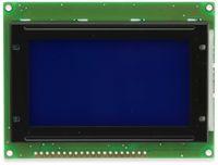 Vorschau: LC-Display, GSR Technology, GSR12864AVA23-BIW-R, 128x64 Pixel, blau