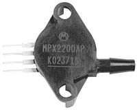 Vorschau: Drucksensor MPX53GP, FREESCALE, 0 ... 50 kPa, 1,2 mV/kPa