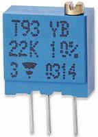 Vorschau: VISHAY Cermet-Trimmer T93YB, stehend, 0,5 W, 100 kΩ