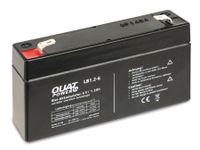 Vorschau: Blei-Akkumulator QUATPOWER LB1.2-6, 6 V-/1,2 Ah