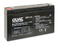 Vorschau: Blei-Akkumulator QUATPOWER LB7.2-6, 6 V-/7,2 Ah