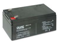 Vorschau: Blei-Akkumulator QUATPOWER LB3.3-12, 12 V-/3,3 Ah